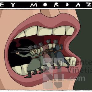 LEY MORDAZA - Viñeta de Eneko