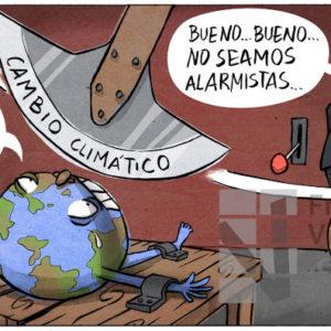 El péndulo climático - Viñeta de Atxe