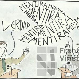 Verdad - Mentira - Viñeta de Davite