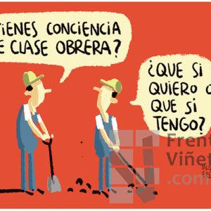 Conciencia de clase obrera - Viñeta de Iñaki y Frenchy
