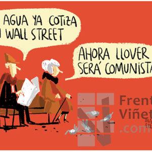El agua ya cotiza en Wall Street - Viñeta de Iñaki y Frenchy
