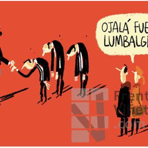 La lumbalgia de los súbditos - Viñeta de Iñaki y Frenchy