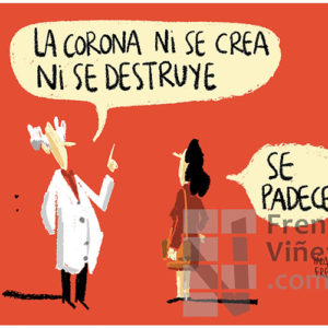 La Corona se padece - Viñeta de Iñaki y Frenchy