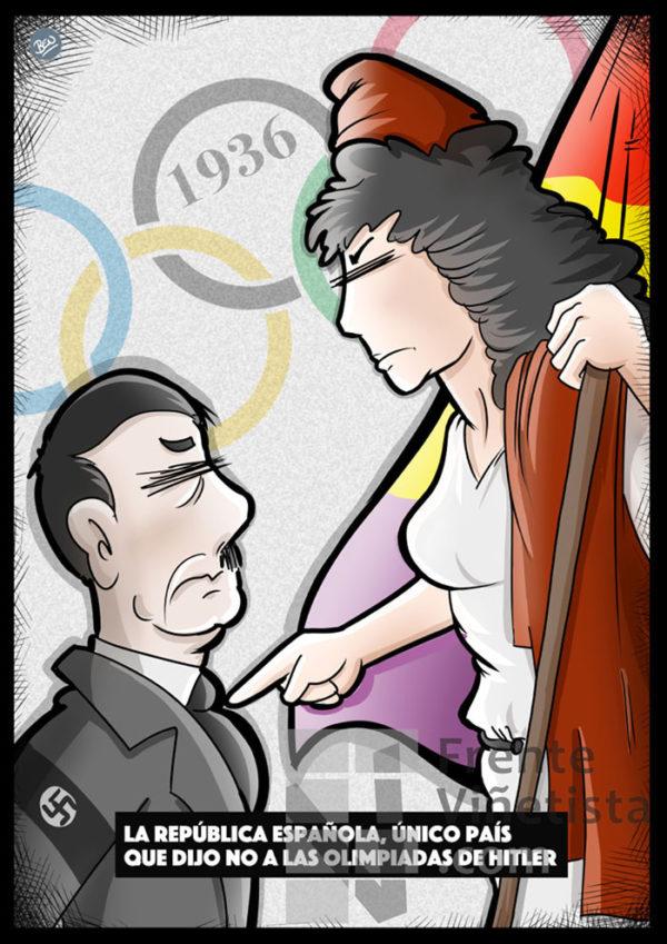 Las Olimpiadas de Hitler y la República Española - Viñeta de Ben