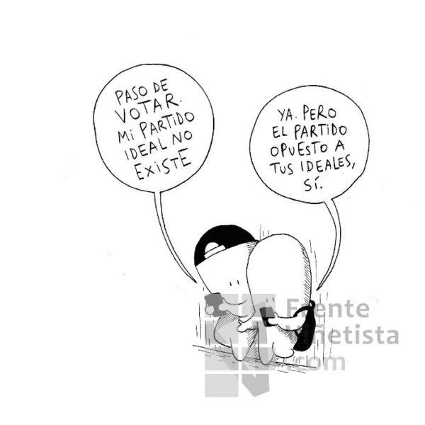 VOTAR O NO VOTAR - Viñeta de Dalmaus