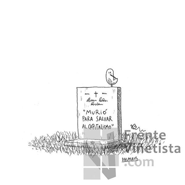 Lápida - Viñeta de Dalmaus