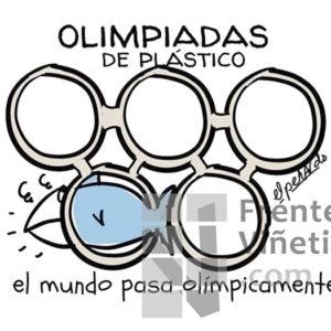 Olimpiadas de plástico - Viñeta de Elpetardo