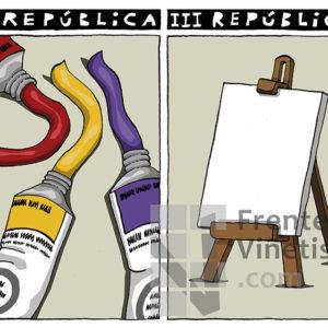 II REPÚBLICA - III REPÚBLICA - Viñeta de Eneko
