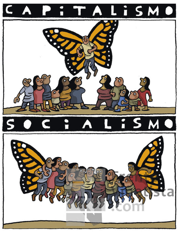 CAPITALISMO - SOCIALISMO - Viñeta de Eneko