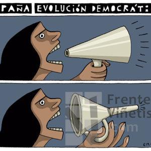 ESPAÑA. EVOLUCIÓN DEMOCRÁTICA - Viñeta de Eneko