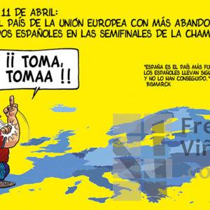 España el país más fuerte del mundo - Viñeta de Andrés Faro