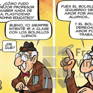 Buenos profesores - Viñeta de Andrés Faro