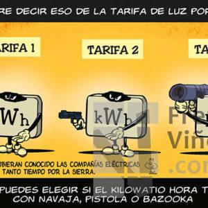 Las tarifas de la electricidad - Viñeta de Andrés Faro