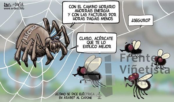 Eléctricas - Viñeta de Andrés Faro