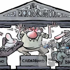 El sustento de la economía - Viñeta de Kap