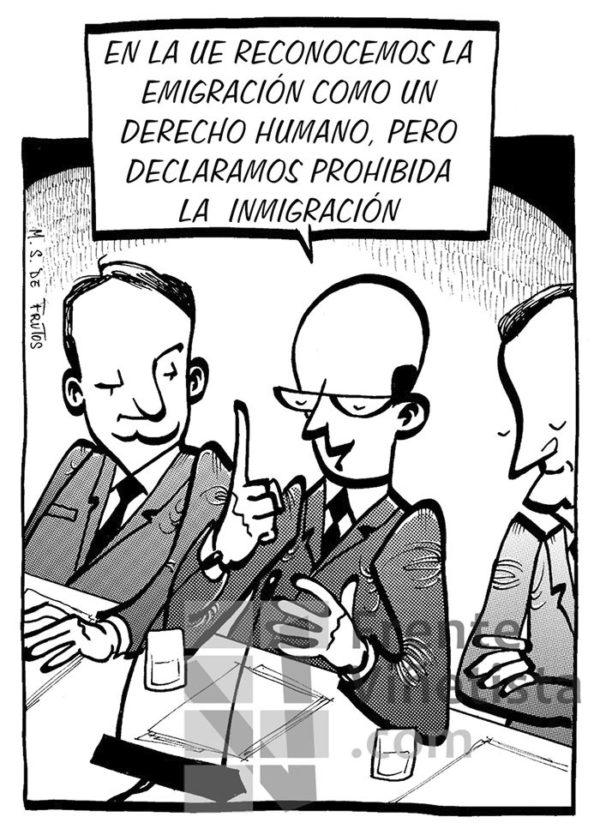 Migrantes - Viñeta de M.S. de Frutos
