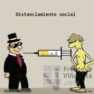 Distanciamiento social - Viñeta de Nani