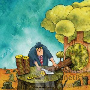 El precio de la ecología - Viñeta de Turcios
