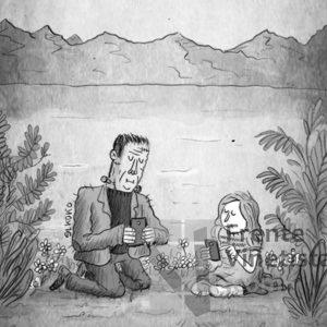 Frankenstein - Viñeta de Elkoko