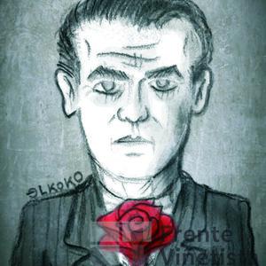 Federico García Lorca. Viñeta de Elkoko