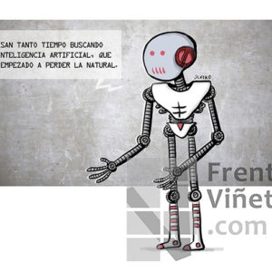 Inteligencia artificial - Viñeta de Elkoko