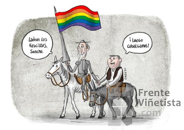 Ladran los fascistas, luego cabalgamos - Viñeta de Elkoko