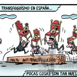 Transfuguismo - Viñeta de Ferran Martín