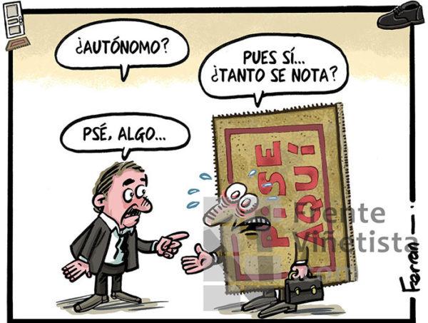 Autónomos - Viñeta de Ferran Martín