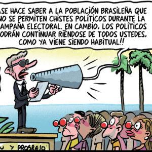 Políticos en Brasil - Viñeta de Ferran Martín