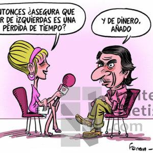 Aznar y sus principios - Viñeta de Ferran Martín