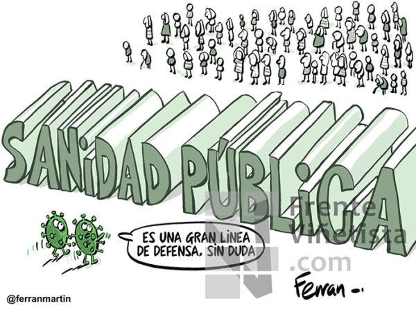 SANIDAD PÚBLICA - Viñeta de Ferran Martín