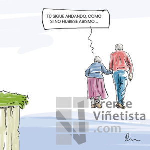 Abismo - Viñeta de Quim Sosa