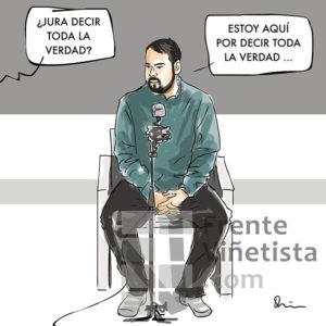 Pablo Hasél - Viñeta de Quim Sosa
