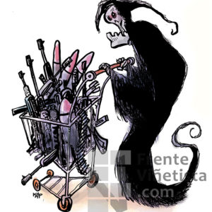 Venta de armas - Viñeta de Kap